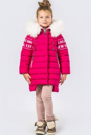 Детская зимняя куртка DT-8261-9 Малина размеры 122-150