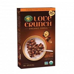 Love Crunch Зерновые хлопья Темный шоколад и арахисовое масло 284 гр СРОК ГОДНОСТИ ДО 15.01.2021
