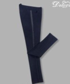 Брюки Deloras  для девочки школьные, темно-синие
