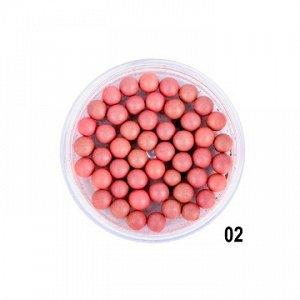 """PARISA Румяна шариковые """"VELVET BALL"""" №02 натурально - персиковый микс"""