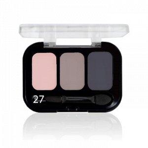 Parisa Тени ( Трехцветные ) Е-403 № 27 Матовый розовый-бежевый-серый