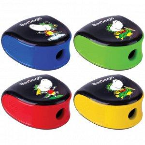 """Точилка пластиковая Berlingo """"Tiny Dragon"""" 1 отверстие, контейнер, ассорти, дисплей"""