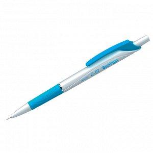 """Ручка шариковая автоматическая Berlingo """"G-07"""" синяя, 0,7мм, грип"""