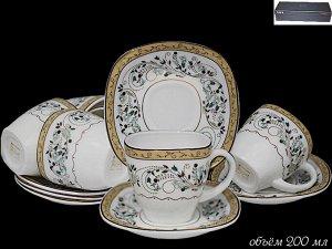 Чайный сервиз 12пр. в под.уп.(х8) Опаловое стекло  Опаловое стекло