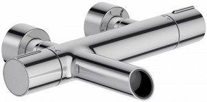 Смеситель E8992-CP смеситель TOOBI ванна/душ термостат (хром) Безопасность Максимальная температура 50°С КОЛЛЕКЦИЯ :TOOBI ВЕС :3.2 кг УСТАНОВКА : Крепление к стене РАСХОД : 19 л/мин МЕХАНИЗМ: Термоста