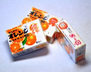 MARUKAWA жевательная резинка , вкус Апельсина, шары 6 шт.