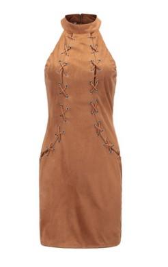Платье приталенное цвет: КОРИЧНЕВЫЙ