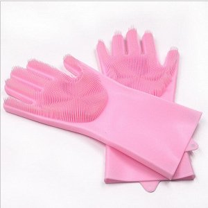 Многофункциональные силиконовые хозяйственные перчатки-щетка
