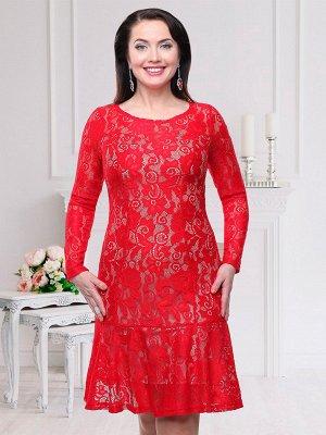 Платье Состав гипюр, трикотажный подклад (95% п/э, 5% эластан) Выразительное платье для страстных личностей. Крой плотно облегает талию и бедра и разлетается изящными складками в нижней части платья.
