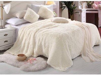 ⭐ Шикарное постельное белье! Ортопедические подушки ⭐  — Меховые пледы — Пледы и покрывала