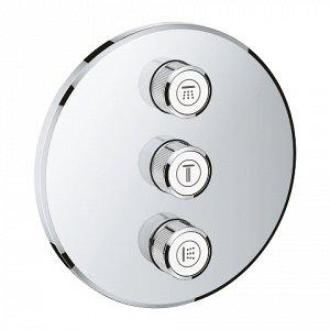 Смеситель 29122000 смеситель д/душа с термостатом GROHTHERM SmartControl на 3 выхода, встр. в стену (хром) Возьмите душ или ванну под свой контроль вместе с вентилем Grohtherm SmartControl. Совмещенны
