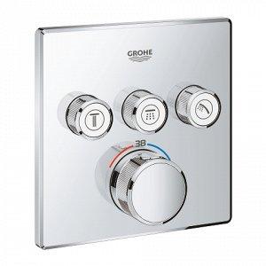 Смеситель 29126000 смеситель для душа с термостатом GROHTHERM SmartControl встр. в стену, на 3 выхода (хром).Если вы ищете способ усовершенствовать вашу ванную комнату, то этот термостат станет отличн