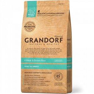 Grandorf Probiotic AllBreeds 4Meat&BrownRice д/соб всех пород 12кг