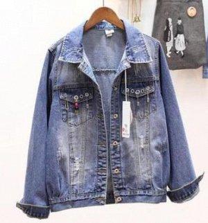 Джинсовая куртка светло-синяя