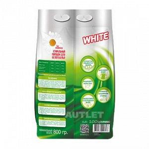 Стиральный порошок для белого белья, 800 гр