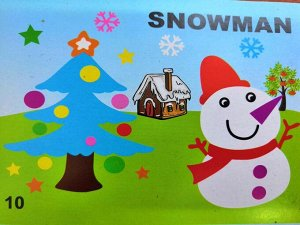 Снеговик Размер 29*21 см.