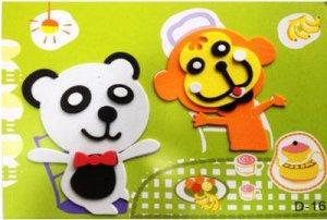 Панда и обезьянка