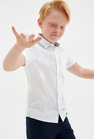 Сорочка верхняя детская для мальчиков Detroyt_S белый