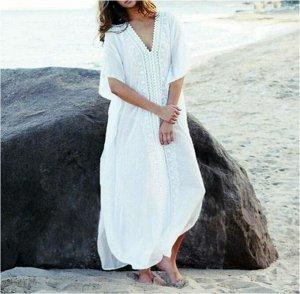 Пляжное платье цвет: БЕЛЫЙ