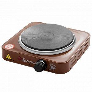 Плита электрическая 1000 Вт настольная 1-конфорочная ВАСИЛИСА ВА-904 коричневая