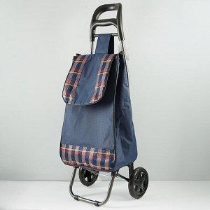 Тележка багажная ручная 25 кг (сумка), 50 кг (каркас) ТБР-20 синяя с красной клеткой