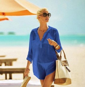 Пляжная туника-рубашка