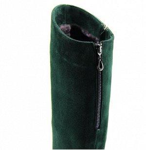 Сапоги зеленый замша (зима-евромех)