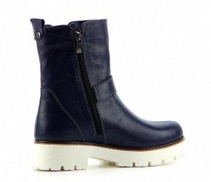 Ботинки натуральная кожа синий