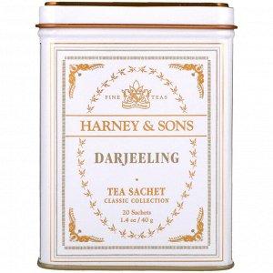 Harney & Sons, Дарджилинг, 20 чайных пакетиков, 1.4 унции (40 г)