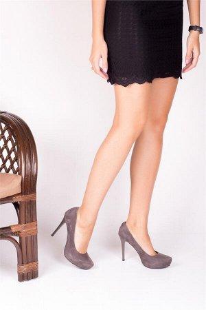 Туфли нат. замша.24 см скидка 50%!