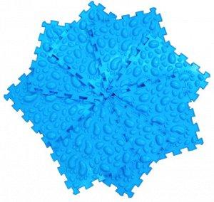 Галька Цена 1 пазл, Приятная пружинящая поверхность с крупными элементами, предназначена для глубокого воздействия на подошвенную поверхность за счет ощутимых перепадов высоты между элементами поверхн