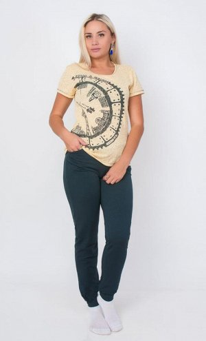 Комплект (костюм) бежевый  штаны и футболка