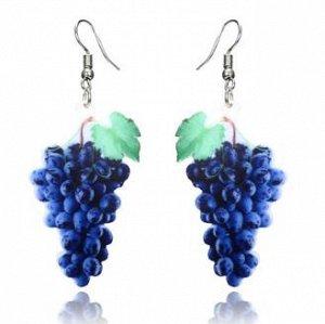 серьги виноград