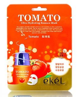 Маска EKEL с экстрактом томата TOMATO ULTRA HYDRATING ESSENCE MASK (Ю. Корея)