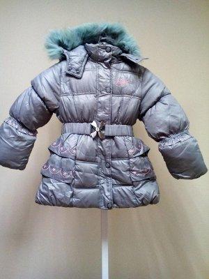 """Теплая куртка с жилеткой """"Винкс"""" серая"""