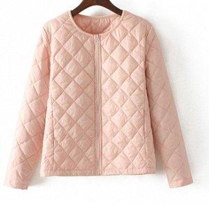 Лёгкая стеганная куртка,розовый