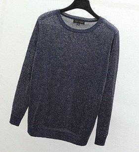 Тонкий свитер с люрексом,тёмно-синий, р.52