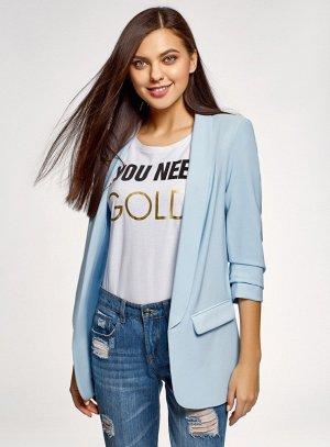 Пиджак нежно голубого цвета 42-44