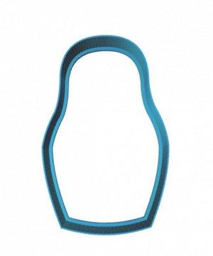 Матрешка,пластиковая форма для печенья
