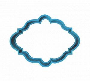 Открытка овал,пластиковая форма для печенья