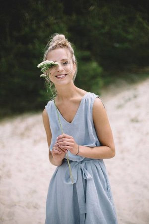 Платье, размер 44-46, лен 100%, цвет бордо