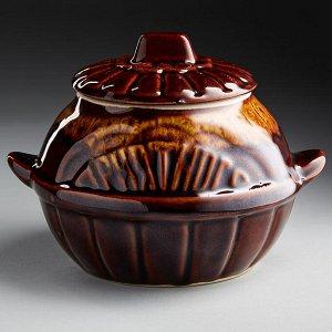 Горшок для запекания 0,5 л БДИ-9827 ПРИЯТНОГО АППЕТИТА (керамика) (ручная работа)