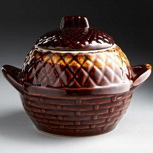 Горшок для запекания 0,5 л БДИ-9827 АНАНАС (керамика) (ручная работа)