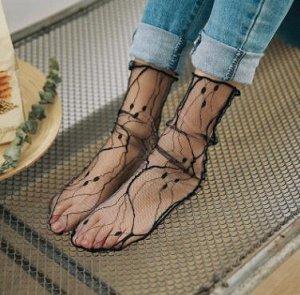 Носки капроновые женские ажурные
