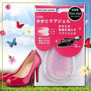 """""""FUDO KAGAKU"""" Гелевые противоскользящие подушечки для обуви под пятку, уменьшающие давление при ходьбе (светлые)"""