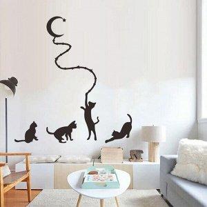 Наклейка интерьерная кошки