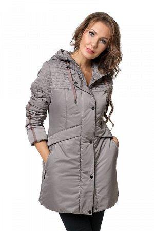 """19120 Куртка """"Дейна"""" серо-коричневый"""