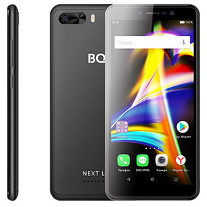 Смартфон BQ 5508L Next LTE, 4G, 8Gb + 1Gb Black