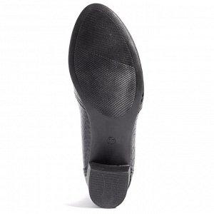 Туфли летние женские, чёрный лак