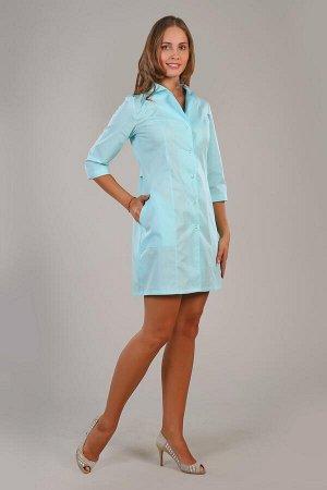 Медицинский халат  светло-голубой 40 размер